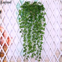 Wholesale fake vine foliage online - Luyue Artificial Ivy Silk Greenery Plants Leaves Garland Plants Vine Fake Flower Rattan Foliage Home Wedding Decor