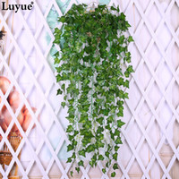 Luyue 2pcs Artificial Ivy Silk Verdura Plantas Folhas Garland Plantas Vine Fake Flower Rattan Foliage Home Wedding Decor