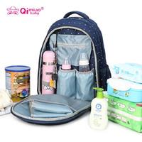 Wholesale Polka Dot Diaper Bags - New Fashion Mummy Maternity Nappy Bag Large Capacity Baby Bag Travel Backpack Nursing Bag Baby Care Diaper Pack