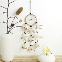 Wholesale Dreamcatcher Design - original design Dream Catcher Pastoral style Wind Chime Dreamcatcher with leather nice gift