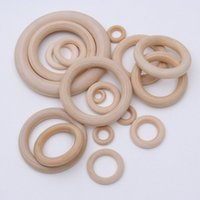 Wholesale Wood Beads 15mm - XD338 Wholesale DIY Accessories 15mm-60mm 15mm-200pcs lot Original Wood Rings Nature Wooden Ring Wood Beads