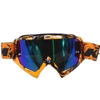 xl kir bisiklet kaskı toptan satış-Yeni Varış KTM Motosiklet Gözlük Profesyonel KTM Motocross Kask Yarış Gözlük Dirt Bike ATV MX Gözlük