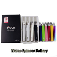 Vision Spinner Battery 650/900/1100 / 1300mAh Ego C Twist Variable Voltage VV Cigarette électronique E Cig Batterie pour Ego Thread Atomizer