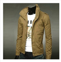 Wholesale korean men long coat winter - Winter Autumn Casual Man Jacket Collar British Style Male Korean Thin Section Solid Color Coat jaqueta masculina