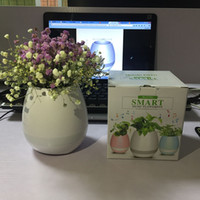 Wholesale Mp3 Free Songs - Newest Touch Induction Music Pots smart Bluetooth Music Flowerpot Green Plant music vase multi lights and songs free DHL