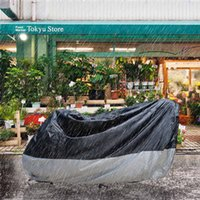 Wholesale Cover For Scooters - Motorcycle CoverWaterproof Black & Sliver Weather Resistant Motorcycle Scooter Cover with Lock for Motorcycle Harley Davidson BMW-Large