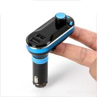 prix du chargeur bluetooth achat en gros de-BT66 Bluetooth voiture prix de gros émetteur FM 2.1A double chargeur de voiture USB BT66 MP3 Kit de voiture pour téléphone portable