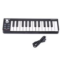 Wholesale Usb Midi Keyboard Cable - High Quality Easykey Portable Mini 25-Key USB MIDI Keyboard Controller with USB Cable 25 Velocity-sensitive Mini-keyboard Keys