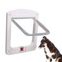 Wholesale Pet Flap Door - Lockable Cat Flap Door Kitten Dog Pet Lock Suitable for Any Wall or Door Pet Dog Cat Door