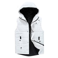 Wholesale Vest Winter Jacket Men - Wholesale- Bomber Cotton Vest Jacket Men Winter Autumn Hooded Jackets Mens Coats Chaquetas Campera Hombre Jaqueta Masculina Veste Homme