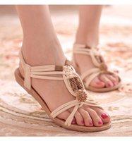 Wholesale Cheap Plus Size Sandals - 2017 Women blown COLORS Sandals Plus Size 36-39 Summer Shoes Woman Fashion Flip Flops Ladies Shoes Sandalias Comfortable Cheap Sale