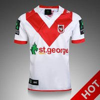Wholesale George T Shirt - 2017 St. George NRL Jersey Thai version of San Giorgio Rugby Uniforms T-shirt Australia Rugby jerseys 2018 St George Illawarra DRAGONS AAA