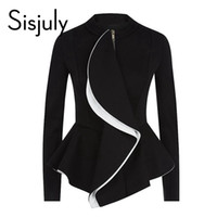 Wholesale Work Skirt Suits Styles Women - Wholesale- Sisjuly women jacket ruffles vintage black peplum coat autumn winter fashion tops gothic women coats ol style work suit jackets