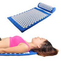Wholesale Mat Massage - Acupressure Massager Mat Pillow Relieve Stress Pain Acupuncture Spike Yoga Mat with Massage Pillow Massager Mat 0602035