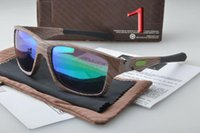 Wholesale Sunglass Wood - new Men Women Wooden Sunglass Bamboo Eyewear Wood sunglasses Jupiter sunglasses Polarized sunmmer style sun glass 9135