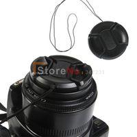 filtros de lente de 55mm al por mayor-Wholesale-100pcs 55mm Center Pinch Snap en la tapa delantera de la lente para 55 mm lente / filtros