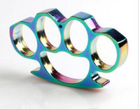Wholesale pcs brass knuckle for sale - 1 Silver Iron four fingers STEEL BRASS KNUCKLES KNUCKLE DUSTER