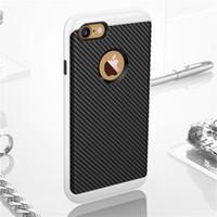 Wholesale Fiber Blue - Carbon Fiber TPU Hybrid Armor Cases For Iphone 5S SE 6S 7Plus S6 S7 Edge J1 J3 J5 J7 Grand Prime P9 Lite