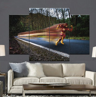 More Panel speed picture - the flash the speed force Lightning man Frameless Paintings No Frame