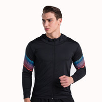 Wholesale Fitness Blue Gym - The new streamer fitness fitness tight coat gym training jacket running mountaineering hoodie