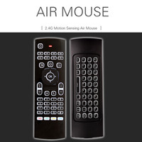 X8 Mini teclado sem fio MX3 Fly Air Mouse Backlit 2.4GHz Controle remoto Somatosensory IR Learning 6 Eixos sem microfone para Android TV Box