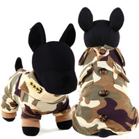 Wholesale Female Military Costumes - Free shipping hot sale FBI military cosplay dog hoodies jumpsuit for small and large dogs costumes