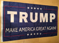 Wholesale flags wholesale - 50pcs 90*150cm Trump 3x5 Flag 2016 Make America Great Again Donald for President USA American 2016 Presidential Election Flags G127