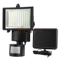 Wholesale Solar Floodlighting - 60   100   120 LEDs LED Solar Motion Sensor Floodlight IP65 Waterproof LED Solar PIR Lamp Outdoor Security LED Wall Lights