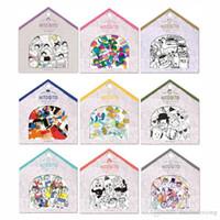Wholesale japanese notebook wholesale - 48 pcs bag Japanese style Cartoon Stickers Scrapbook Notebook decoration DIY Handmade Sticker Gift Card Children's gift
