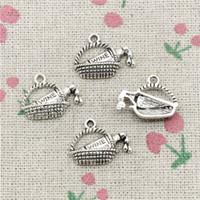 basket necklace jewelry Australia - 100pcs Charms wine picnic basket 19*15mm Tibetan Silver Vintage Pendants For Jewelry Making DIY Bracelet Necklace