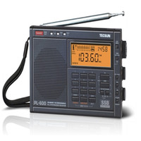 Wholesale Digital Clock Radios - Wholesale-High Quality TECSUN PL-600 Digital Tuning Full-Band FM MW SW AIR PLL Stereo Radio Receiver with Clock