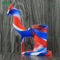 Wholesale Silicone Molds Usa - USA hot seling 19 colours for chose rig silicone dab rig molds super mini hand bubbler S-03 .