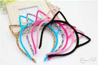 Wholesale stylish headband hair for sale - Stylish Women Girls Cat Ears Headband Accessories Hello Kitty Styling Tools Hair Braider Styling Accessories Tools