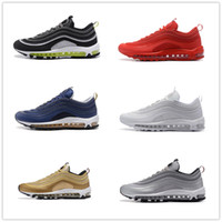 Barato Eva Neon-2017 Wholesale Drop Shipping Max 97 OG Undefeated Gold Silver White Navy Black Neon Tamanho Vermelho EU40-46 US7-12 Mens Running Shoes With Box