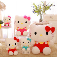 Wholesale anime girl big online - 20cm inch hello kitty plush toys High quality Stuffed dolls for girls kids toys gift action toy figure hobbies