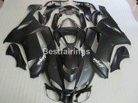 kawasaki ninja için fairing kitleri toptan satış-Kawasaki Ninja ZX6R 2007 2008 için yüksek kaliteli plastik kaporta kiti mat siyah fairings seti ZX6R 07 08 MA18