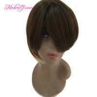 Wholesale Cheap Bob Style Wigs - Wholesale Short Bob Ombre Hair Wigs for Fashion Women Three Tone Cut Synthetic Hair Wig With Bangs Cheap Newest America Europe Style Wig