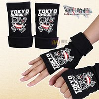 Wholesale Bowling Gloves - 2017 Tokyo Ghoul Gloves Solid Couple warm half GLOVES BLACK Cotton Gloves Jin Mu animation research Cheap Sale