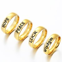 Wholesale inspired rings for sale - Group buy High Quality Inspired Words Letter on Ring for Men s Women New Jewelry Stainless Steel Fashion Gold Silver Color