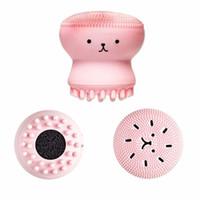 Wholesale Face Wash Blackheads - Wash Brushes Super Little Cute Octopus Face Cleaner Massage Soft Silicone Facial Brush Face Cleansers Blackhead Spot Acne
