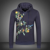 Wholesale Casual Cotton Belts For Men - 2017 New Arrival Hliantao fashion embroidery Bee crown men Sweatshirts cotton casual tees for man hoodies streetwear 66006