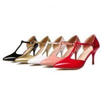 Wholesale elegant dresses for work - SJJH plus size Elegant working pumps stiletto heel all match queen shoes for fashion women PP150