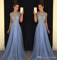 Wholesale cheap celebrity party dresses - 2017 New Design Lavender Lace Cheap Prom Dresses A Line Chiffon Lace Applique Sweep Train Formal Evening Party Gowns Celebrity Dresses