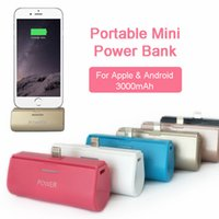 Portable Mini Power Bank para iPhone Android Mobile 3000mah Powerbank External Battery Backup Charger Without Cable