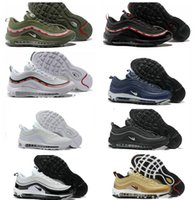 Wholesale Engraving Cutting - 20th anniversary engraved commemorative edition Undefeated x Maxes 97 OG running shoes five bars black green red men and women shoes