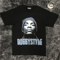 Wholesale Doggie Style - Snoop Dogg Style T-shirt Vintage Men Women Fashion Black Tees Hip Pop Kanye West Doggie Tees Tops