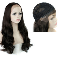 Wholesale Blonde 28inch - Synthetic Hair Wigs Lace Front Wig Big Wavy 28inch Heat Resistant Black Blonde Long Synthetic wigs