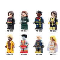 Wholesale 60sets PG8012 Building Blocks Superes Heroes pogue Bishop Shadowcat colossus cable White Queen X men Blocks Toys