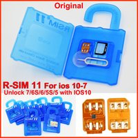 Wholesale T Mobile Sim Card Wholesale - R-SIM11 rsim11 R SIM 11 rsim11 Official Unlock Card for iphone 7 5 5S 6 6plus iOS7-10.X unlocking Support 4G 3G Sprint AT&T T-mobile Cricke