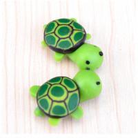 Wholesale Turtle Ornaments - 2PcsLot Kawaii Cute Miniatures Landscape For Terrariums Turtle Garden Ornaments Micro Landscape Miniaturas Para Mini Jardins